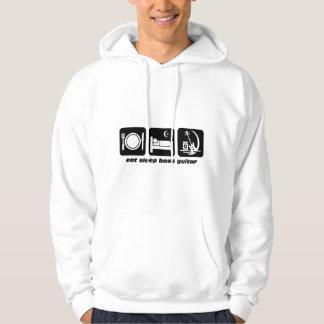 eat sleep bass guitar hoodie