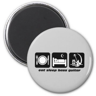 eat sleep bass guitar magnet