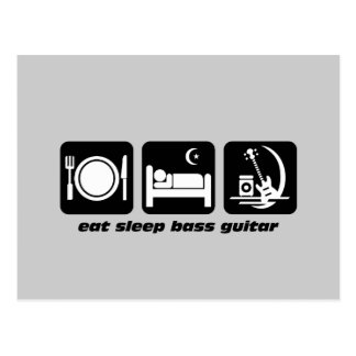 eat sleep bass guitar postcard