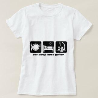 eat sleep bass guitar tee shirt