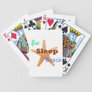 Eat Sleep Beach - Playing Cards