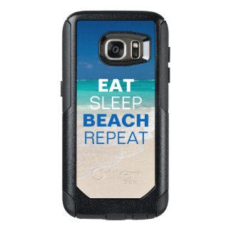 Eat Sleep Beach Repeat OtterBox Samsung Galaxy S7 Case