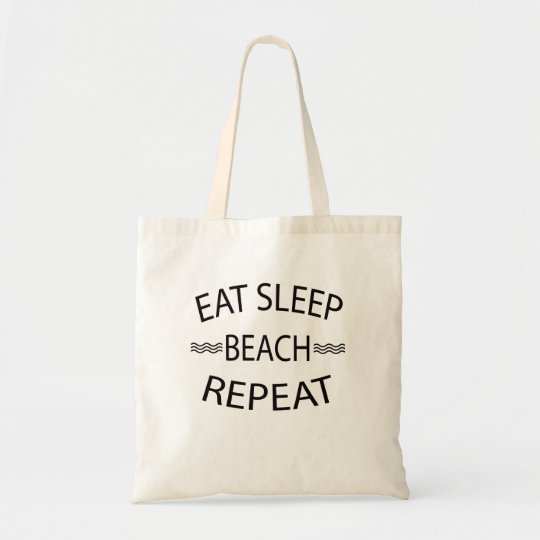 Eat Sleep Beach Repeat Summer Beach Tote