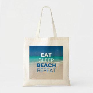 Eat Sleep Beach Repeat Tote Bag