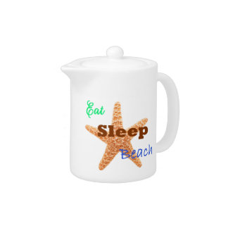 Eat Sleep Beach - Teapot