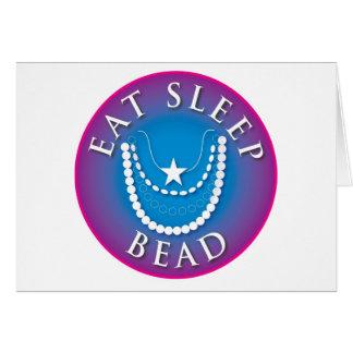 Eat Sleep  Bead Card