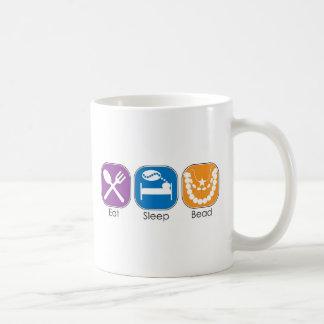 Eat Sleep Bead Coffee Mug
