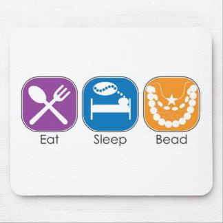 Eat Sleep Bead Mouse Mat
