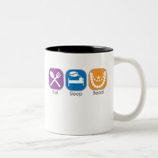 Eat Sleep Bead Two-Tone Mug