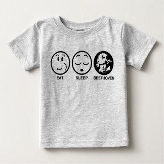 Eat Sleep Beethoven Baby T-Shirt