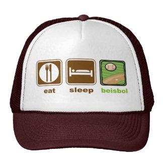 eat sleep beisbol hats
