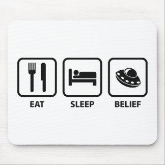 Eat Sleep Belief Mousepad