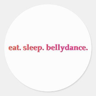 """""""Eat. Sleep. Bellydance."""" Stickers (White)"""