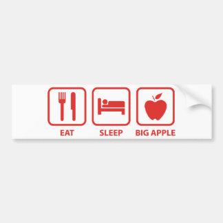 Eat Sleep Big Apple Bumper Sticker