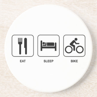 Eat Sleep Bike Coaster