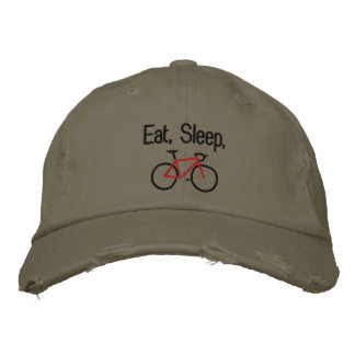 Eat, Sleep, Bike Embroidered Hat