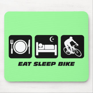Eat sleep bike mouse mat