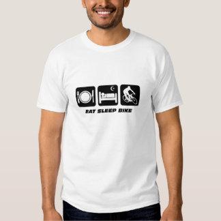 Eat sleep bike tee shirts