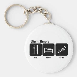 Eat sleep Bingo Key Ring