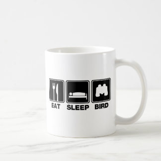 Eat Sleep Bird (bins) Basic White Mug