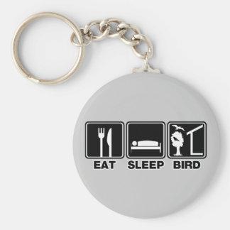 Eat Sleep Bird (blind) Key Ring