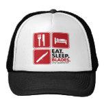 Eat Sleep Blades - Red Hats