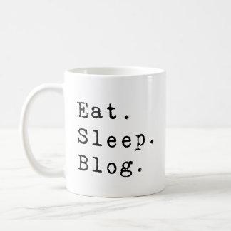 Eat Sleep Blog Basic White Mug