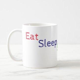 Eat Sleep Blog Repeat Mug
