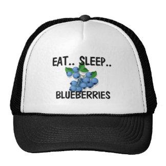 Eat Sleep BLUEBERRIES Mesh Hats