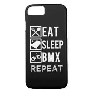 Eat Sleep BMX Repeat funny biking phone case