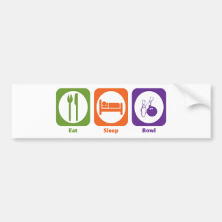 Eat Sleep Bowl Bumper Sticker