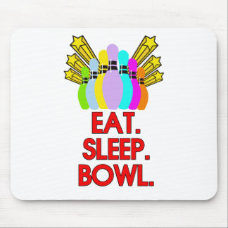 Eat, Sleep, Bowl, Funny Quote Mouse Mat