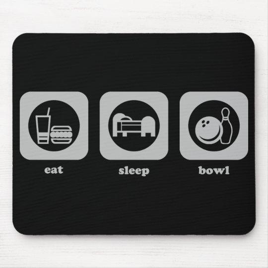 Eat. Sleep. Bowl. Mousepad