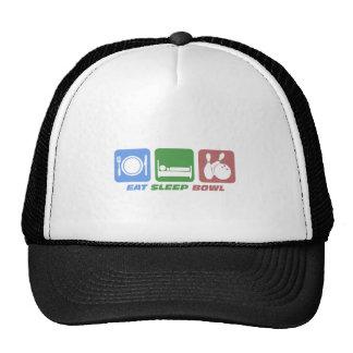 eat sleep bowling hats