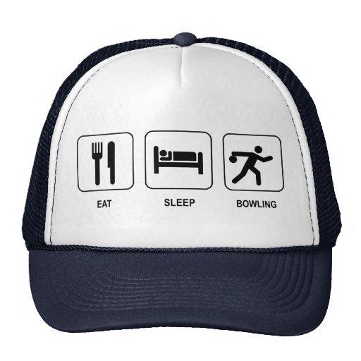 Eat Sleep Bowling Hat
