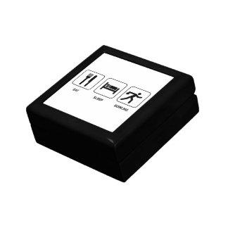Eat Sleep Bowling Small Square Gift Box