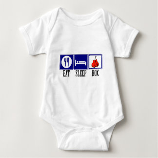 Eat, Sleep, Boxing Baby Bodysuit