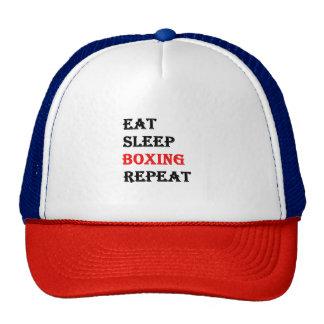Eat Sleep Boxing Repeat Cap