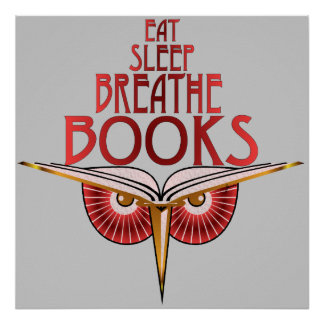 Eat Sleep Breathe Books Print