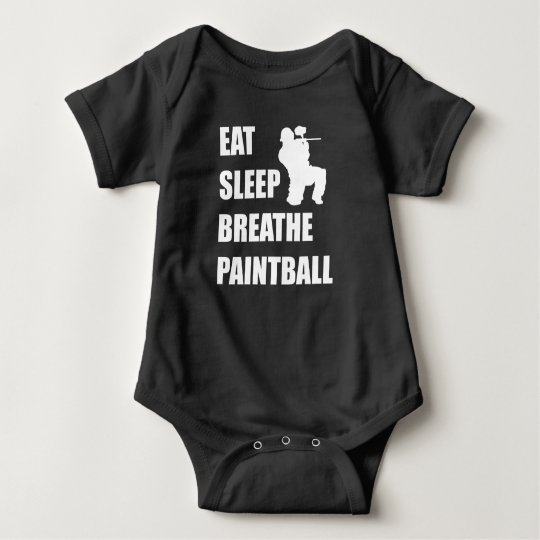 Eat Sleep Breathe Paintball Baby Bodysuit