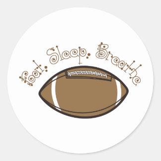 Eat, Sleep, Breathe Round Sticker