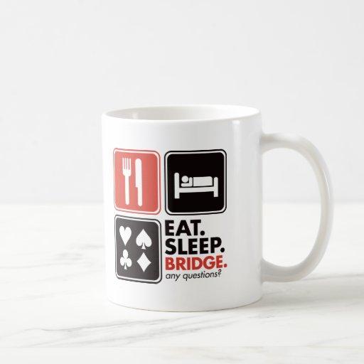 Eat Sleep Bridge Basic White Mug