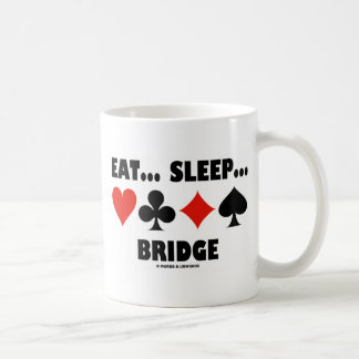 Eat... Sleep... Bridge (Bridge Humor Card Suits) Coffee Mug
