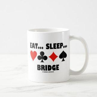 Eat Sleep Bridge Bridge Humor Card Suits Mugs