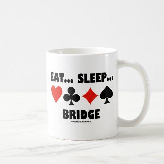 Eat Sleep Bridge (Bridge Humour Card Suits) Coffee