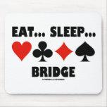 Eat... Sleep... Bridge (Bridge Humour Card Suits) Mousepad