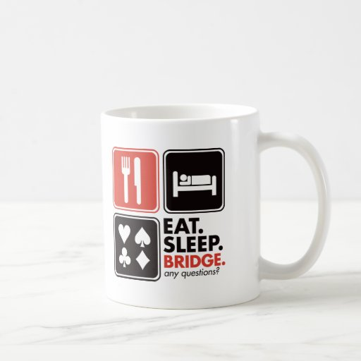 Eat Sleep Bridge Classic White Coffee Mug