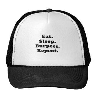 Eat Sleep Burpees Repeat Trucker Hats