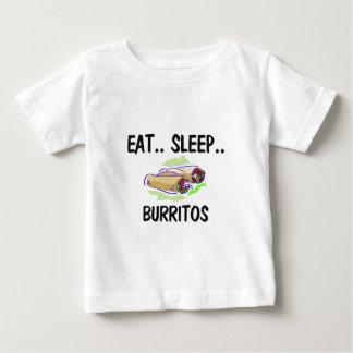 Eat Sleep BURRITOS Tee Shirt