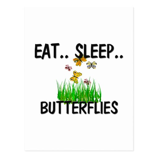 Eat Sleep BUTTERFLIES Postcard